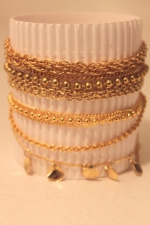 100% Doré Bling Bling & Petits coquillages