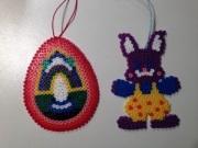 Décorations de pâques faits main par les enfants avec les perles KAMA