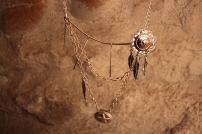 Coillier argenté, bijoux fait main